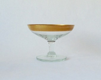 Gold Rimmed Dorothy Thorpe Compote