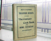 Antique 1894 Cookbook Dr Oliver's Treasured Secrets The Century Cook Book and Home Physician