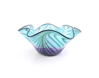 LARGE Blown Glass Bowl - Art Glass Bowl