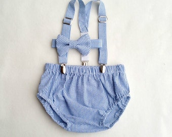 Cake Smash Outfit, Baby Photo Outfit, Picture Outfit, Baby Boy, Diaper Cover Set, Suspenders Outfit, Newborn Boy Outfit, Baby Prop