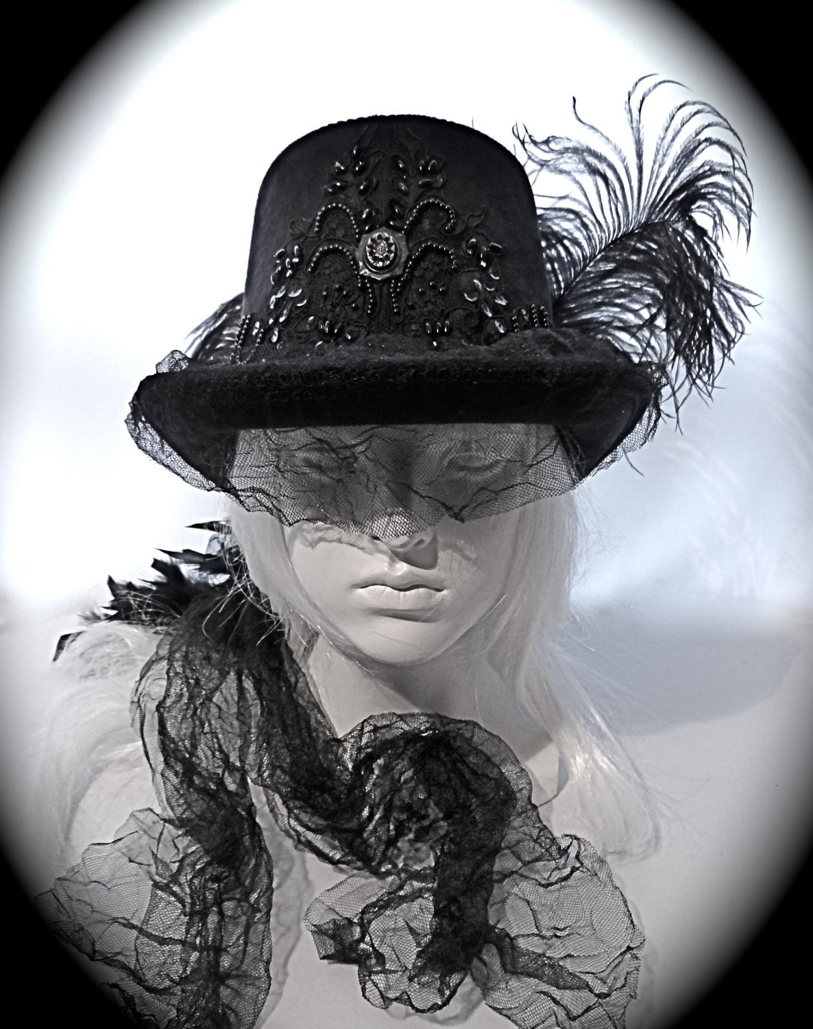 Goth Top Hat Victorian Riding Hat Women S Hats By