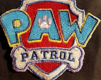 Embroidered Paw Patrol Iron On Patch