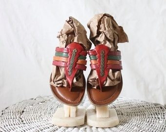 woven leather flip flops / 7