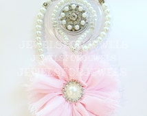 5in1 Convertible Pacifier Clip Rhinestone Personalized Pearl Necklace Bracelet Hair Accessory