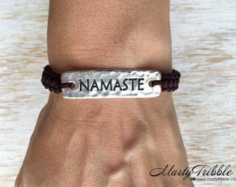 Namaste Shamballa Bracelet, Earthy Bracelet, Boho Bracelet, Adjustable Bracelet, Namaste Bracelet, Yoga Bracelet, Vegan Shamballa Bracelet