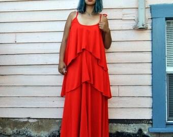 Vintage Tiered Maxi Dress