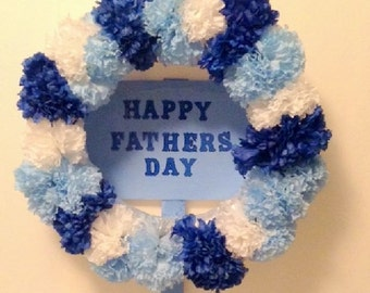 Father's Day Wreath, Gravesite Wreath, Memorial Flowers,  Cemetery Silk Flowers
