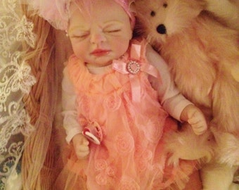 From The Precious Gift Kit Reborn Baby Girl Doll Melody 19 inch kit Completed Doll