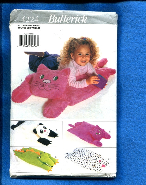 Animal Shaped Floor Pillows : Butterick 4224 Stuffed Animal Shaped Floor Pillows for Kids
