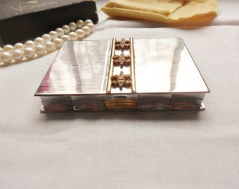 Volupte Rhinestone Compact with Original Box and Dust Pouch