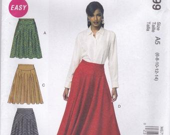 Full Skirt Pattern McCalls 6799 Sizes 6 8 10 12 14 Uncut