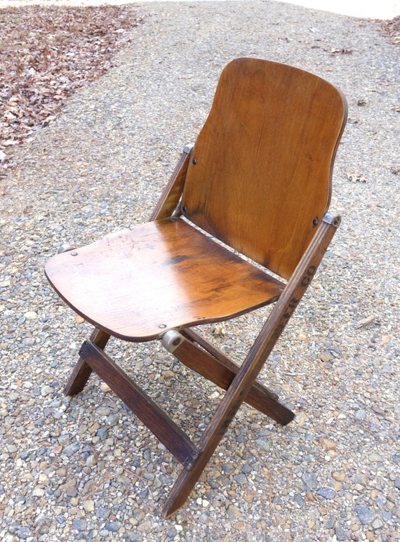 1940 S Army Wooden Folding Chair Vintage 18th Engineer Co