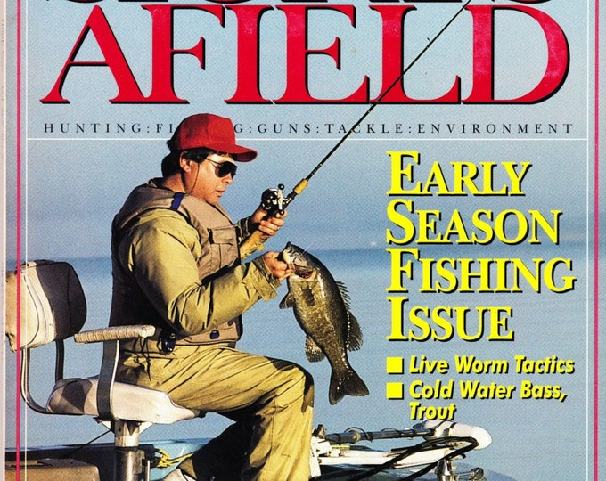 Vintage Sports Afield Magazine February 1991, Hunting, Fishing, Articles, Angler, Tackle, Environment, Fishing Issue, Live Worm Tactics