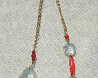 Upcycled Crystal & Gemstone Pendulum with Pentagram