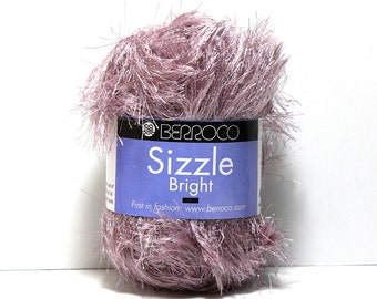 Yarn Sale, Sparkly Novelty Eyelash Yarn, Scarf Yarn, Berroco Sizzle Bright, Aran Weight Yarn, Washable Yarn, Discontinued Yarn