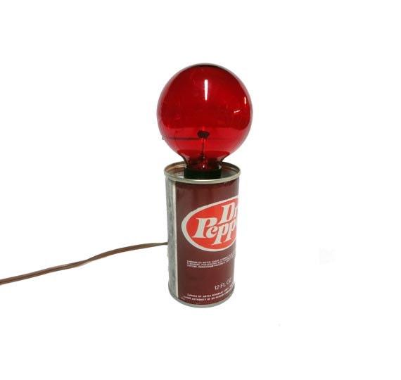 Dr Pepper Lamp : Sale vintage dr pepper can light soda advertising