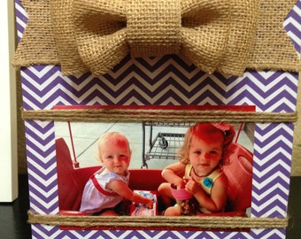 8x10 Wooden Frame, Holds 4x6 Photo