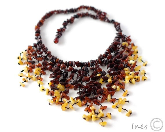Baltic Amber Necklace, Multi color Amber Beads, Adult Amber Necklace