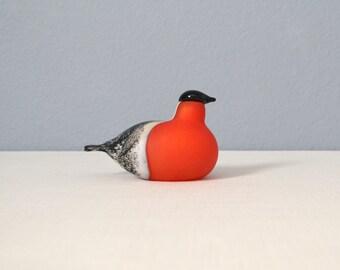 Vintage Oiva Toikka Small Common Bullfinch iittala Bird Figurine