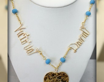 Sweetheart Wire Written Name Necklace