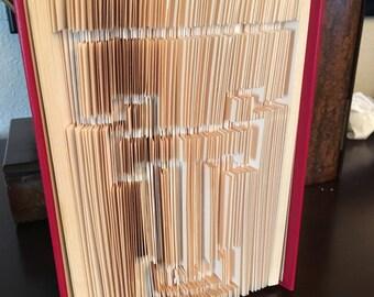 Texas Tech Cut and Fold Book Art Book Sculpture