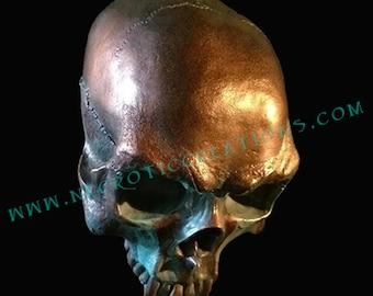 Gothic Vampire Skull in Bronze