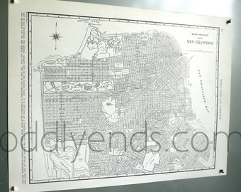 1939 San Francisco California Vintage City Atlas Map