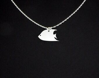 Angelfish Necklace - Angelfish Jewelry - Angelfish Gift