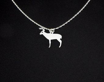 Deer Necklace Buck - Deer Jewelry - Deer Gift