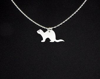 Ferret Necklace - Ferret Jewelry - Ferret Gift