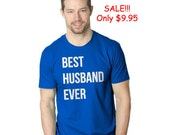 SALE Mens Best Husband Ever ROYAL T-Shirt  discount, valentines, gift, matching, hubby, husband, couple, thoughtful, i love you, anniversary