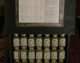Old Witchery Herb Box Set: herb jars, spells, herb set, mini herb set, apothecary, mini apothecary, jars, medieval, witchery, organic