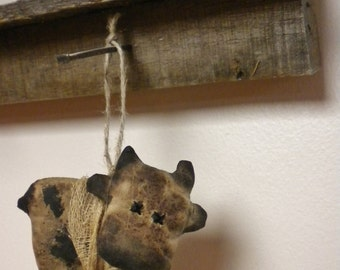 Primitive Cow Ornament - Made To Order, Holstein Cow Ornaments, Christmas Decor