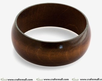 Clearance: Wooden bangle - chocolate brown bangle made of wood - size S
