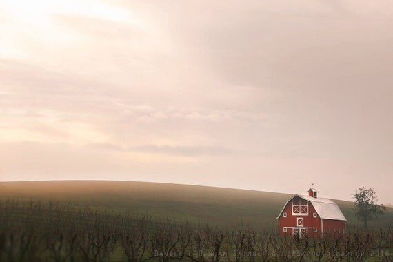 Landscape Glass Portland Oregon : Oregon photo landscape photography old red barn minimalist big