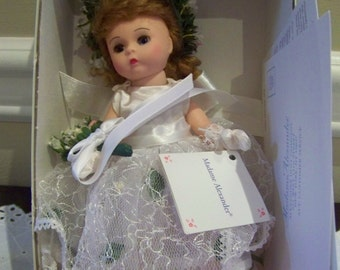 Flower Girl White Dress Madame Alexander 8 inch doll