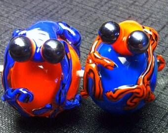 Tree Frog Glass Focal Bead
