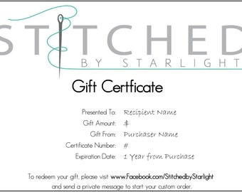 Gift Certificate for a Signature Wallet