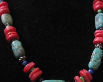 Sale was 54.00 now 49.00 Turquoise Nugget Necklace