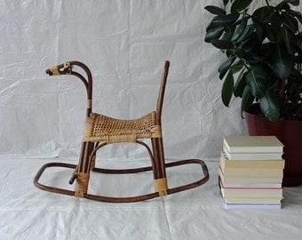 Mid Century Swedish Rocking Horse