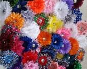 50 Flower Hair Clip Kit / DIY Flower Clip / Party Favor / Baby Shower / Make Hairclips / Craft Kit / Hair Clip / Hairclip Supply