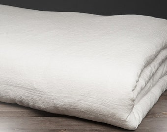 Washed white linen duvet cover, linen bedding, natural eco friendly bedding
