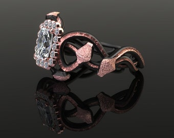 Black Viper Diamond Ring