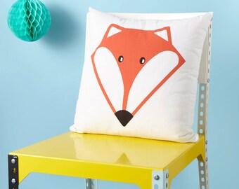 Fox Screen Printed Cushion - Nusery Decor - Kids Room - Amimal Cushion - Cute Cushion - Kawaii