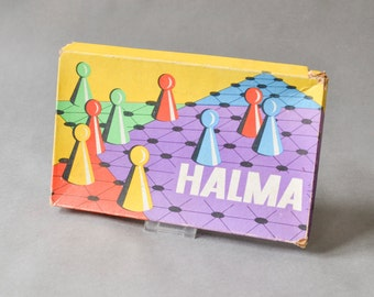 Vintage Halma game, board game, vintage halma game