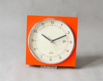Krups red clock, Krups wall clock, 60s kitchen clock, red wall clock