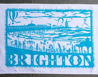Brighton Rocks Tea Towel, Dish Towel