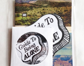 Guide to Being Alone Zine with soundtrack