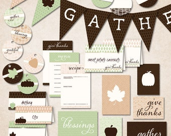 PRINTABLE Thanksgiving - Gather - INSTANT DOWNLOAD