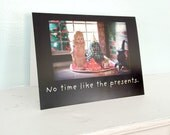 Funny Photo Card Notecard Christmas Card Adventures Claudia China Doll Holiday Card Presents